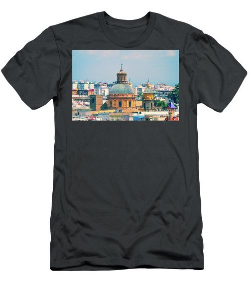 Men's T-Shirt (Slim Fit) featuring the photograph Rooftops Of Seville - 1 by Mary Machare