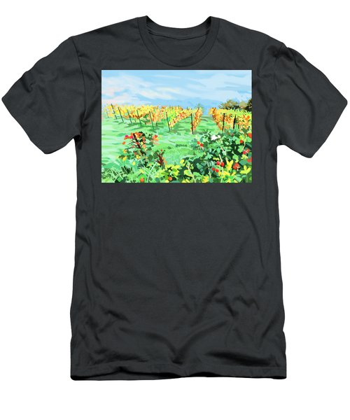 Roosthole Vineyard Men's T-Shirt (Slim Fit) by Plum Ovelgonne
