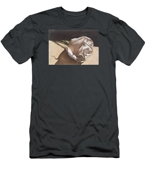 Men's T-Shirt (Slim Fit) featuring the painting Rose 1 by Natalia Tejera