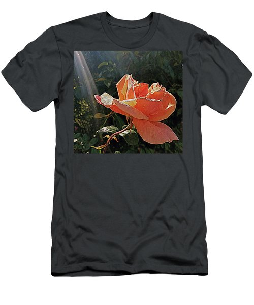 Rose And Rays Men's T-Shirt (Athletic Fit)