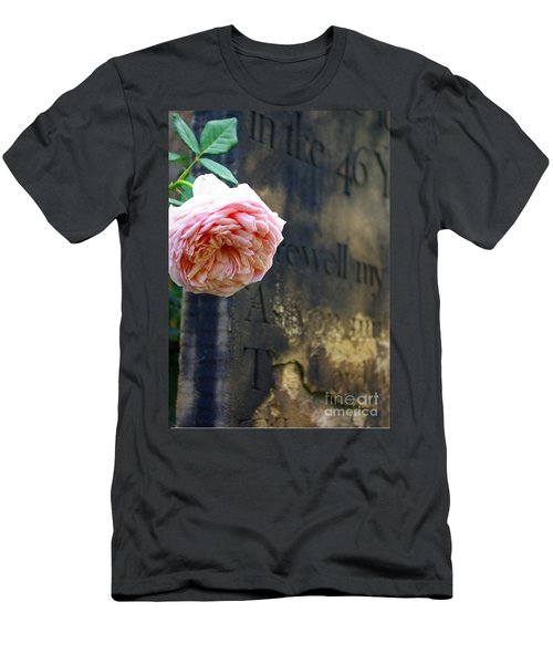 Rose At The Grave Men's T-Shirt (Athletic Fit)