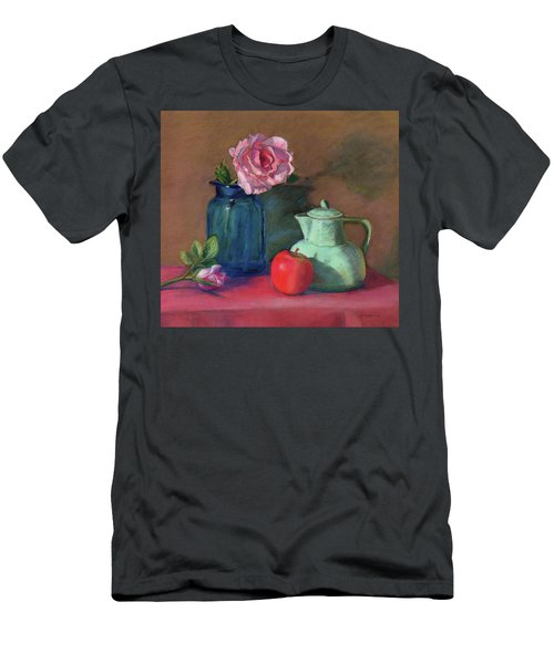 Rose In Blue Jar Men's T-Shirt (Slim Fit)