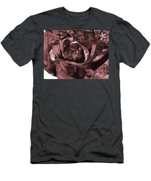 Rose No 2 Men's T-Shirt (Slim Fit) by David Bridburg