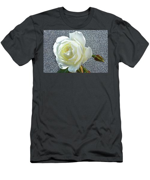 Men's T-Shirt (Slim Fit) featuring the photograph Rose With Some Sparkle by Terence Davis