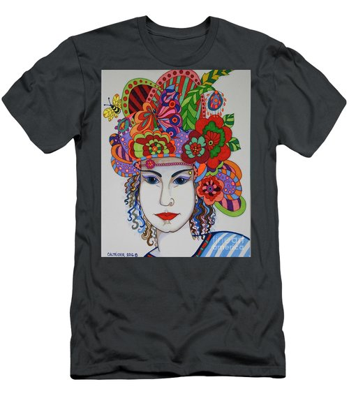 Men's T-Shirt (Slim Fit) featuring the painting Rosemary by Alison Caltrider