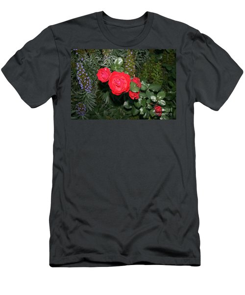 Men's T-Shirt (Athletic Fit) featuring the photograph Roses Among by Cynthia Marcopulos