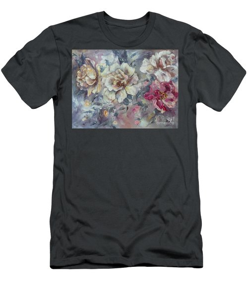 Men's T-Shirt (Athletic Fit) featuring the painting Roses From A Friend by Ryn Shell