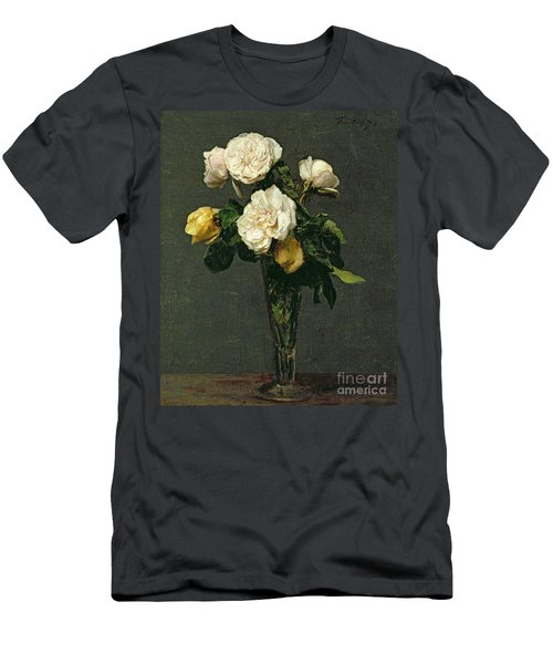 Roses In A Champagne Flute Men's T-Shirt (Athletic Fit)