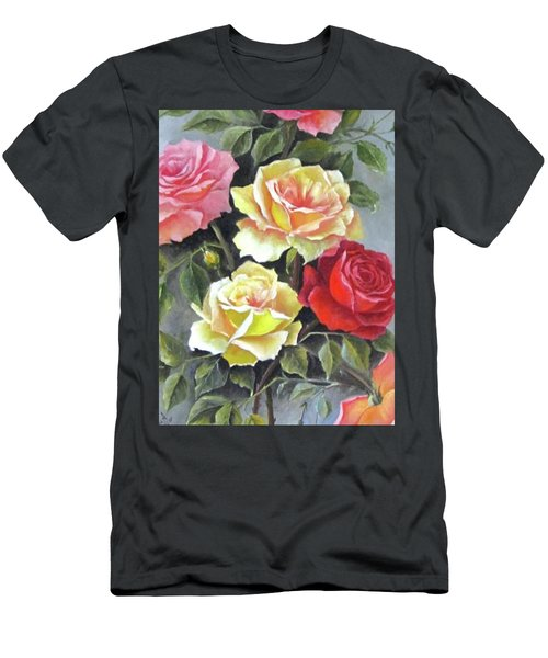 Roses Men's T-Shirt (Slim Fit) by Katia Aho