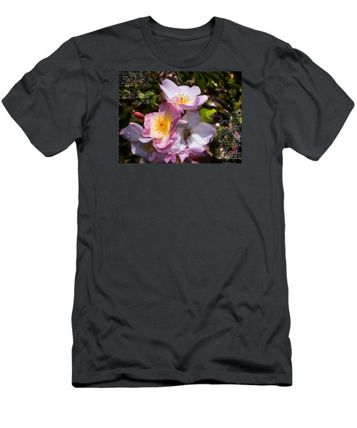 Roses Speak Of Love In The Language Of The Heart Men's T-Shirt (Athletic Fit)