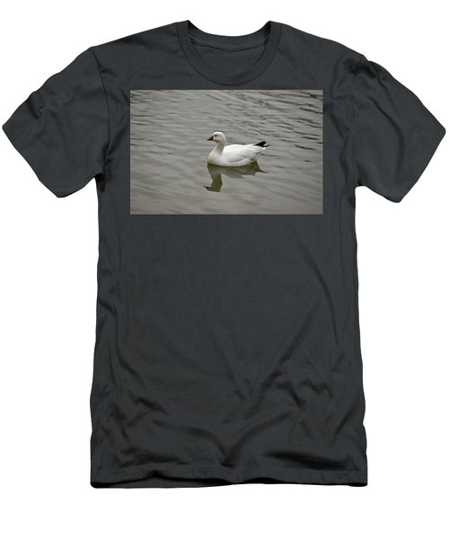 Men's T-Shirt (Slim Fit) featuring the photograph Ross's Goose by Sandy Keeton