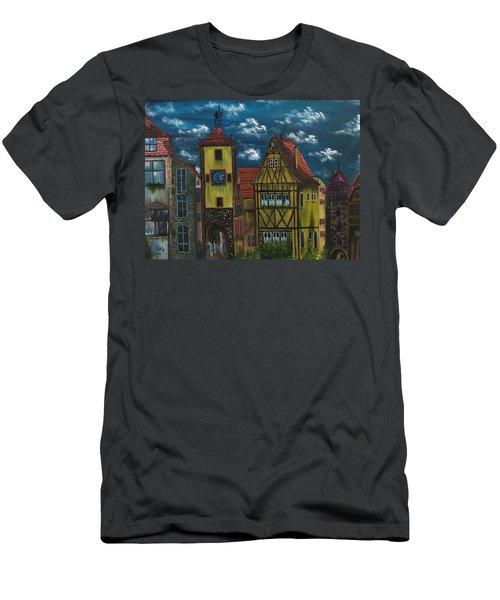 Men's T-Shirt (Slim Fit) featuring the painting Rothenburg Ob Der Tauber by The GYPSY And DEBBIE