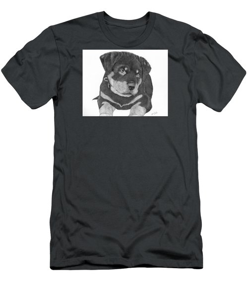 Rottweiler Puppy Men's T-Shirt (Athletic Fit)