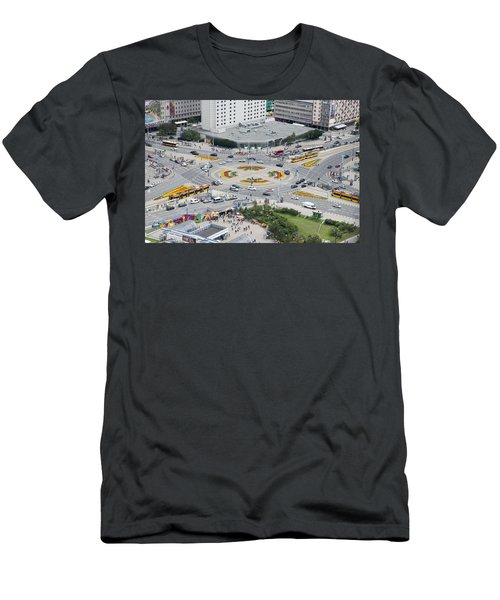 Roundabout In Warsaw Men's T-Shirt (Slim Fit) by Chevy Fleet