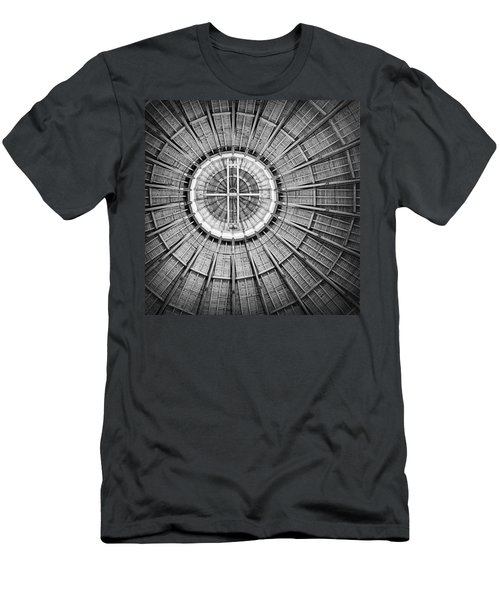Roundhouse Architecture - Black And White Men's T-Shirt (Athletic Fit)