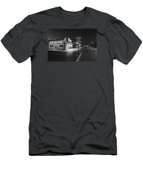 Route 66 Santa Monica Black And White  Men's T-Shirt (Athletic Fit)