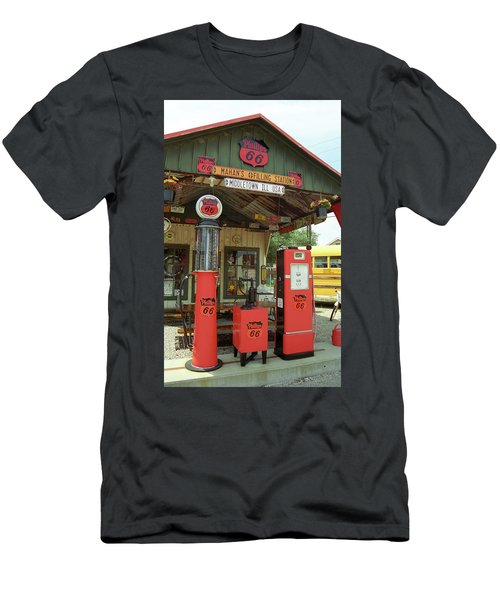 Route 66 - Shea's Gas Station Men's T-Shirt (Athletic Fit)