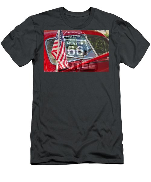 Men's T-Shirt (Slim Fit) featuring the photograph Route 66 The American Highway by David Lee Thompson