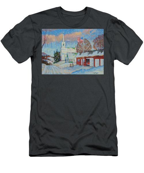 Route 8 North Men's T-Shirt (Slim Fit) by Len Stomski