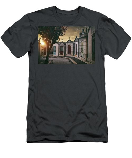 Men's T-Shirt (Slim Fit) featuring the photograph Row Of Crypts by Carlos Caetano