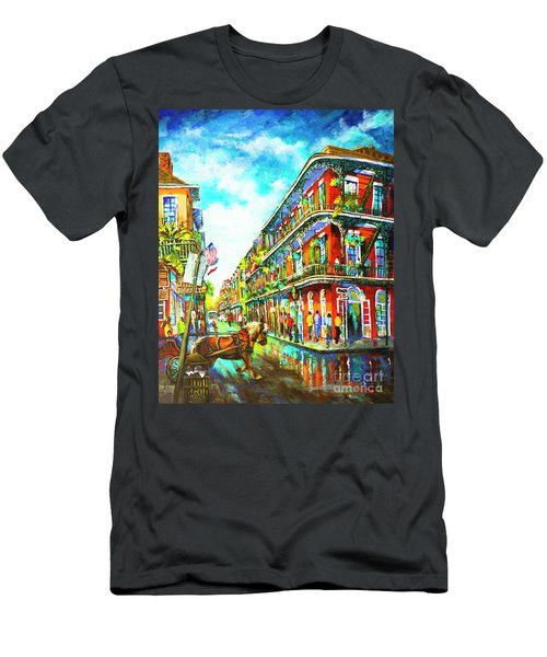 Royal Carriage - New Orleans French Quarter Men's T-Shirt (Athletic Fit)