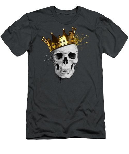Men's T-Shirt (Slim Fit) featuring the digital art Royal Skull by Nicklas Gustafsson