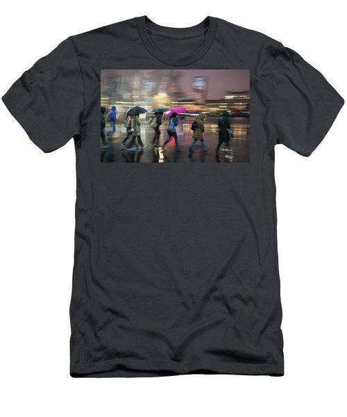 Run Between The Raindrops Men's T-Shirt (Athletic Fit)