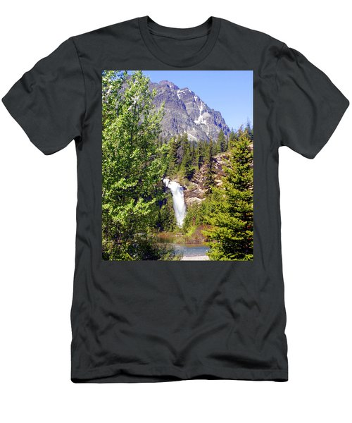 Running Eagle Falls Glacier National Park Men's T-Shirt (Athletic Fit)