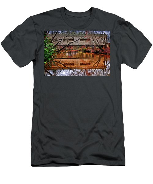 Running Waters Covered Bridge 025 Men's T-Shirt (Athletic Fit)
