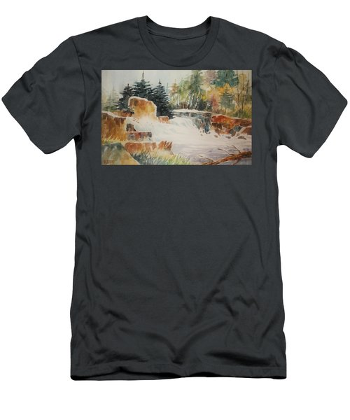 Rushing Streambed Men's T-Shirt (Slim Fit) by Al Brown