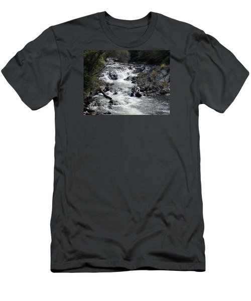 Rushing Water Men's T-Shirt (Slim Fit) by Catherine Gagne