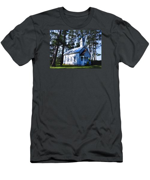 Men's T-Shirt (Slim Fit) featuring the photograph Ruskin - Ga Church by Laura Ragland