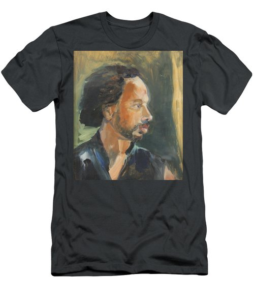 Men's T-Shirt (Slim Fit) featuring the painting Russell by Daun Soden-Greene