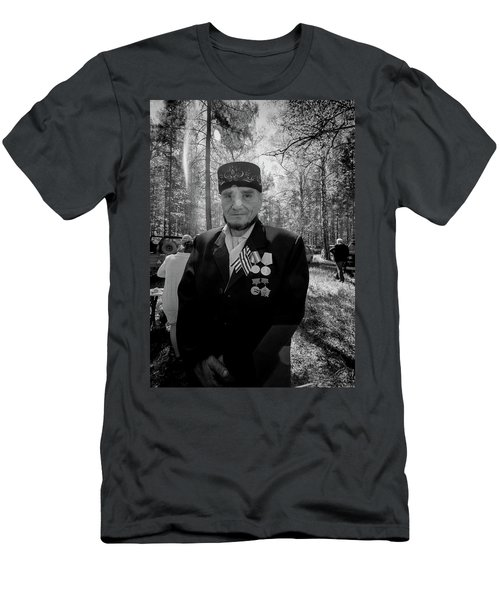 Men's T-Shirt (Athletic Fit) featuring the photograph Russian Afghanistan War Veteran by John Williams