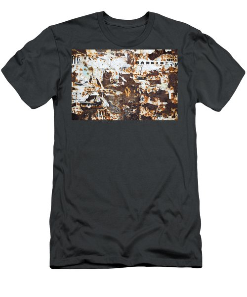 Men's T-Shirt (Slim Fit) featuring the photograph Rust And Torn Paper Posters by John Williams
