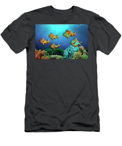 Men's T-Shirt (Athletic Fit) featuring the photograph Rust Fish by Paul Wear