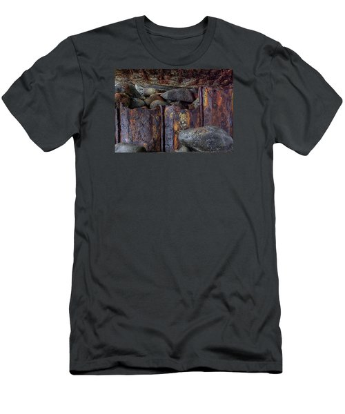 Men's T-Shirt (Slim Fit) featuring the photograph Rusted Stones 3 by Steve Siri
