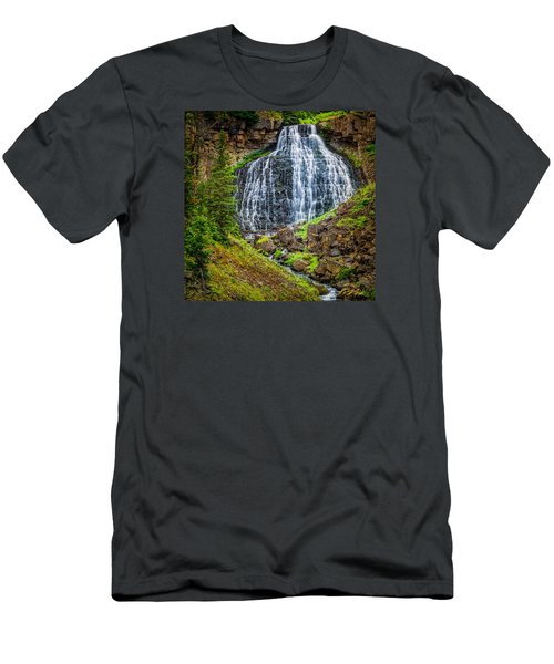 Men's T-Shirt (Athletic Fit) featuring the photograph Rustic Falls  by Rikk Flohr