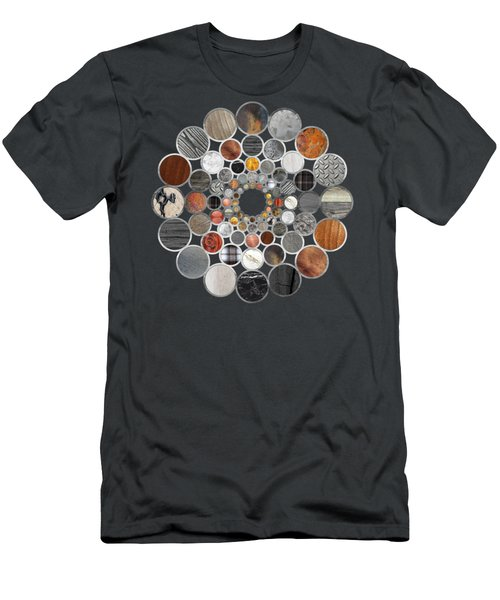 Rustic Geometry II Unusual Modern Geometric Circle Urban Lodge Art Men's T-Shirt (Athletic Fit)