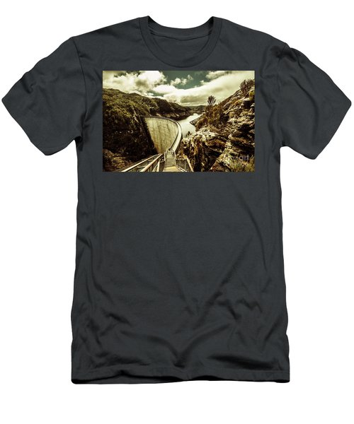 Rustic Rural Water Architecture Men's T-Shirt (Athletic Fit)