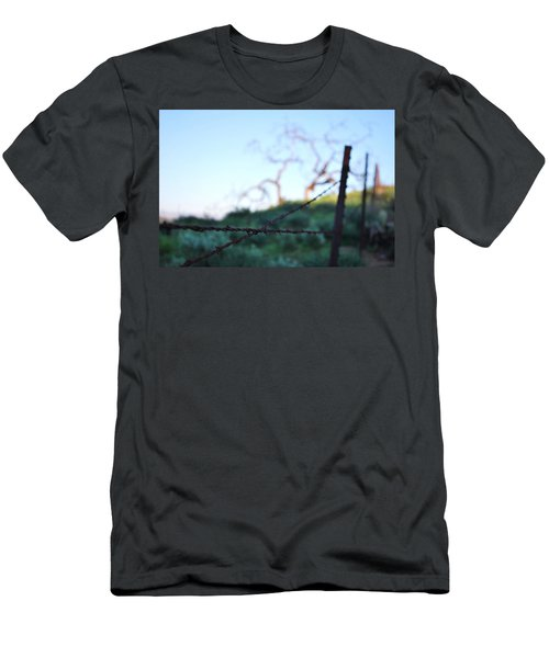 Men's T-Shirt (Athletic Fit) featuring the photograph Rusty Gate Rural Tree 2 by Matt Harang