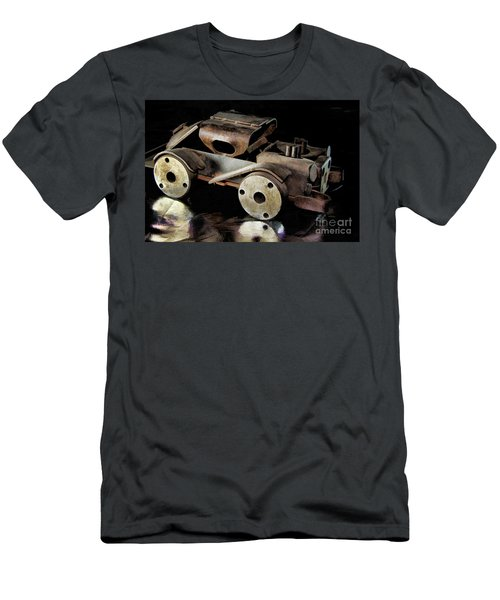 Men's T-Shirt (Slim Fit) featuring the photograph Rusty Rat Rod Toy by Wilma Birdwell