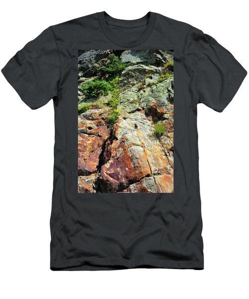Rusty Rock Face Men's T-Shirt (Athletic Fit)