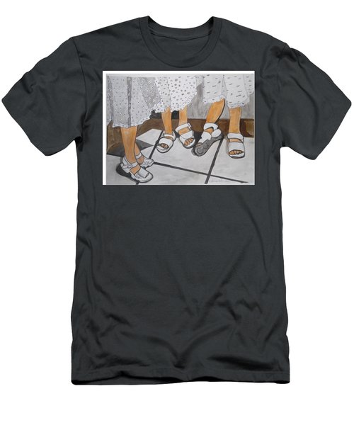 Men's T-Shirt (Athletic Fit) featuring the painting Sabbath Sandals by Esther Newman-Cohen