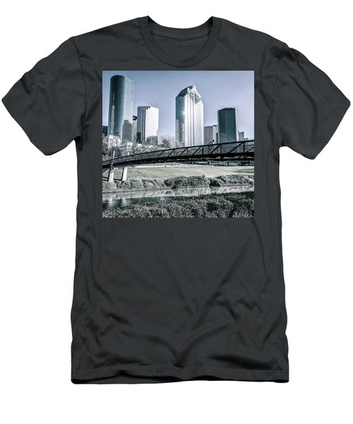 Sabine Promenade Over Buffalo Bayou Men's T-Shirt (Athletic Fit)