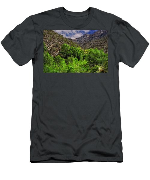Men's T-Shirt (Athletic Fit) featuring the photograph Sabino Canyon H33 by Mark Myhaver