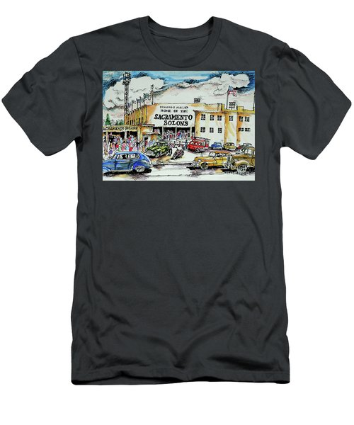Men's T-Shirt (Slim Fit) featuring the painting Sacramento Solons by Terry Banderas