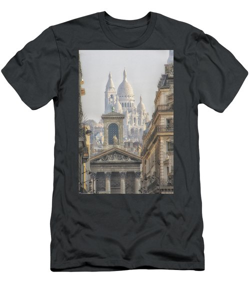 Sacre-coeur  Men's T-Shirt (Slim Fit) by Catherine Alfidi