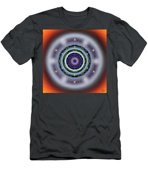 Sacred Geometry 640 Men's T-Shirt (Slim Fit) by Endre Balogh