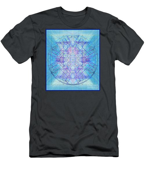 Men's T-Shirt (Slim Fit) featuring the digital art Sacred Symbols Out Of The Void A3c by Christopher Pringer